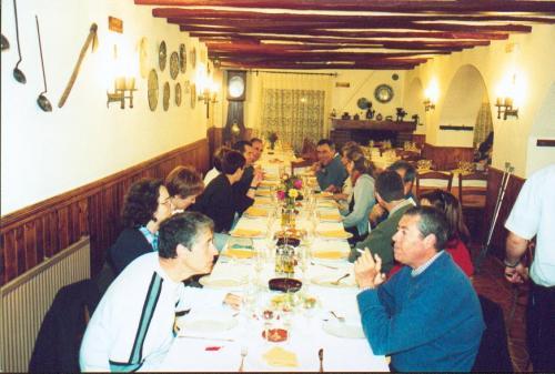 Cena en Agres. Mayo del 2001.